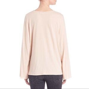Helmut Lang Tops - Helmut Lang Nude Flared Jersey-Knit Top